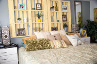 Cool Pallet Headboard by Bobby