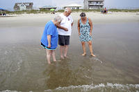 Pat Tom Sr Joy at Long Beach on Oak Island